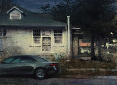 """""""White House and Parked Car"""", Oil Painting"""