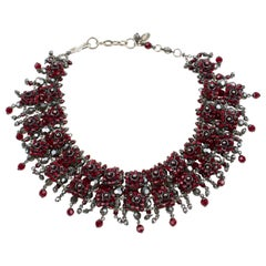 Daniel Swarovski Paris Victorian-Inspired Red Crystal Choker Necklace