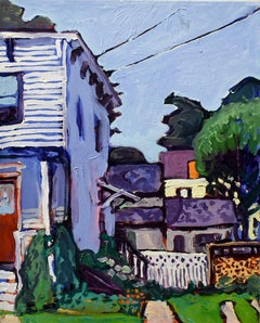 16 3rd St. Athens NY (Oil on Linen Town Street Landscape in Vivid Color Palette)
