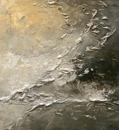Introspezioni II ( Introspection) - Black Frame, Mixed Media on Canvas