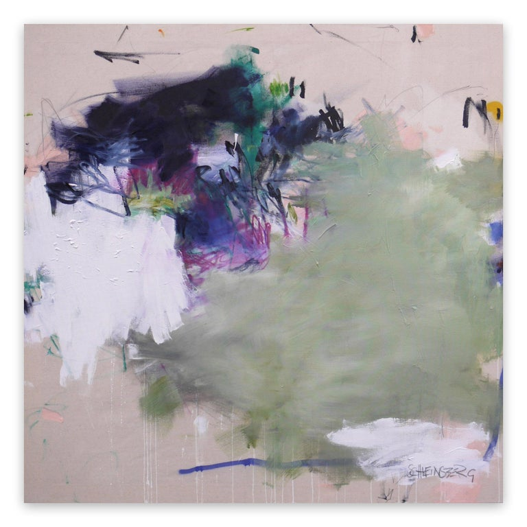 Daniela Schweinsberg Abstract Painting - A Breath of Summer IX (Abstract Expressionism painting)