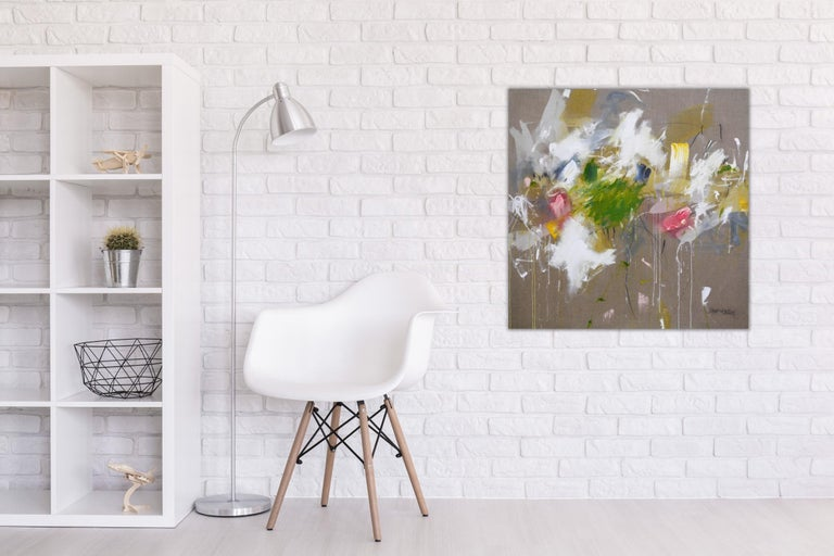 A Breath of Summer V (Abstract Expressionism painting) - Painting by Daniela Schweinsberg