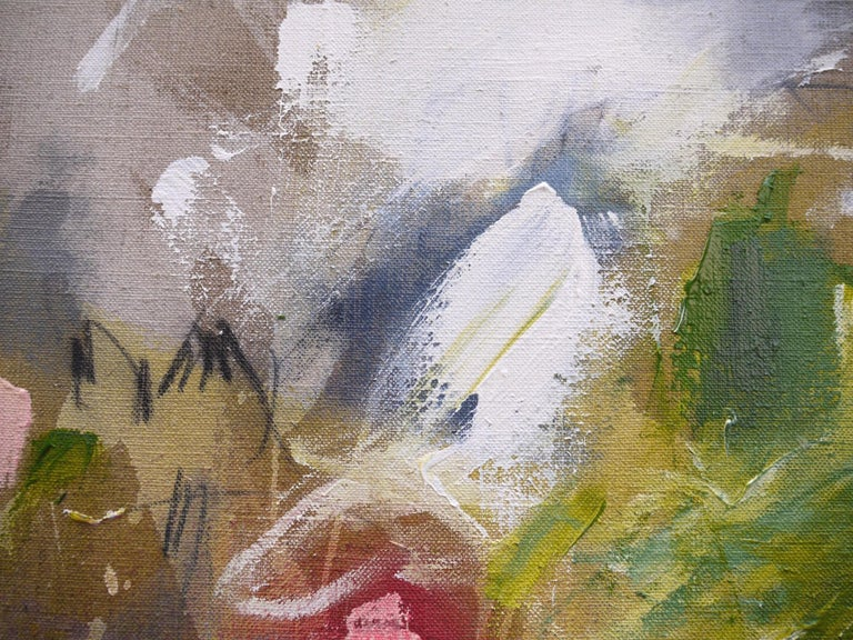 A Breath of Summer V (Abstract Expressionism painting) - Abstract Expressionist Painting by Daniela Schweinsberg