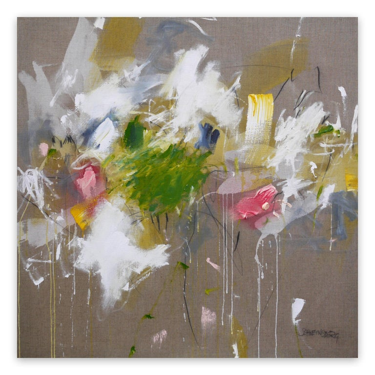 Daniela Schweinsberg Abstract Painting - A Breath of Summer V (Abstract Expressionism painting)