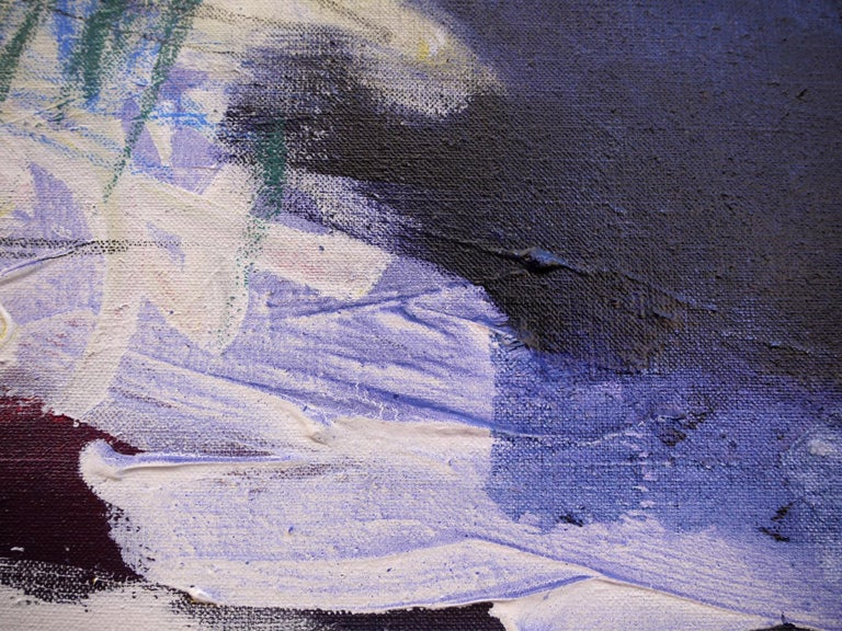 Acrylic/mixed media on linen - Unframed.  This work is part of a series titled