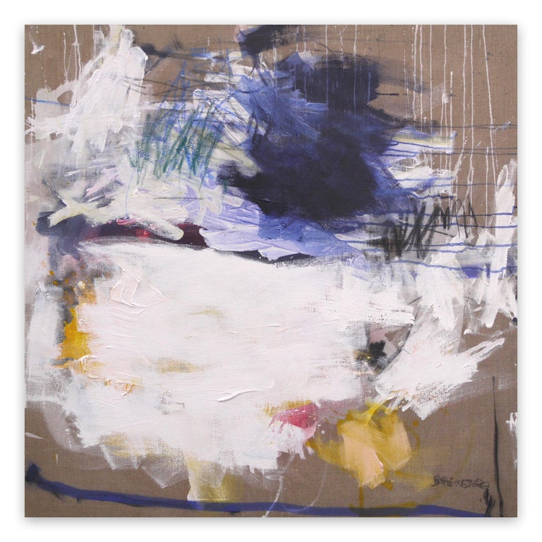 Daniela Schweinsberg Abstract Painting - A Breath of Summer VI (Abstract Expressionism painting)