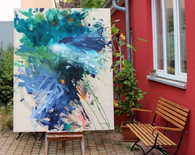 Bad Hair Day (Abstract Expressionism painting) For Sale 5