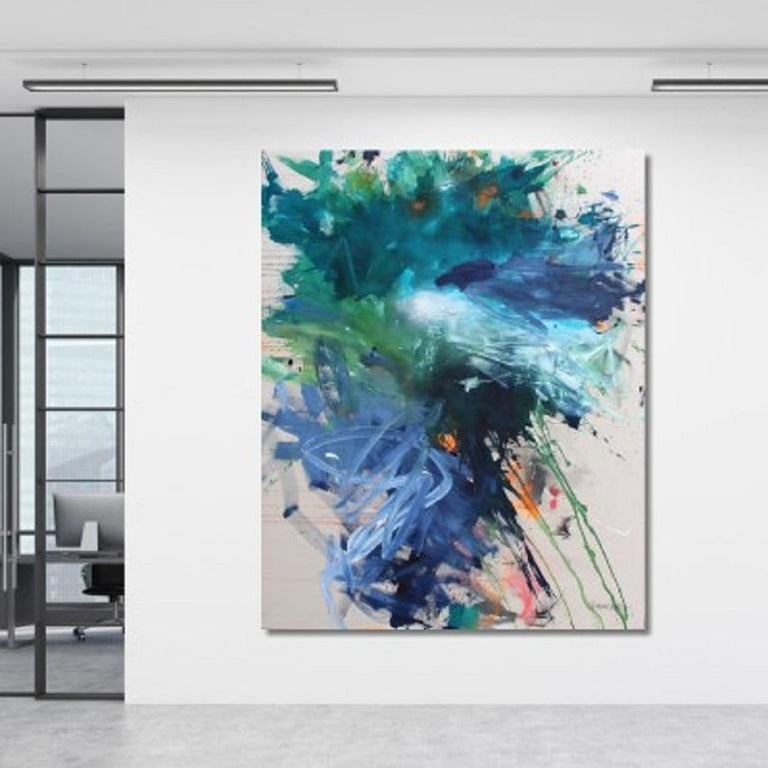 Bad Hair Day (Abstract Expressionism painting) - Painting by Daniela Schweinsberg