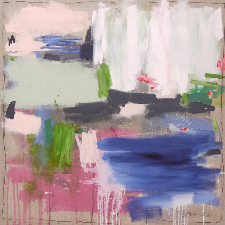 Daniela Schweinsberg Abstract Painting - Behind the Fence II, Painting, Acrylic on Canvas