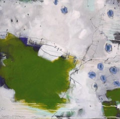 Bridge over Green Field by Daniela Schweinsberg Contemporary Abstract Painting