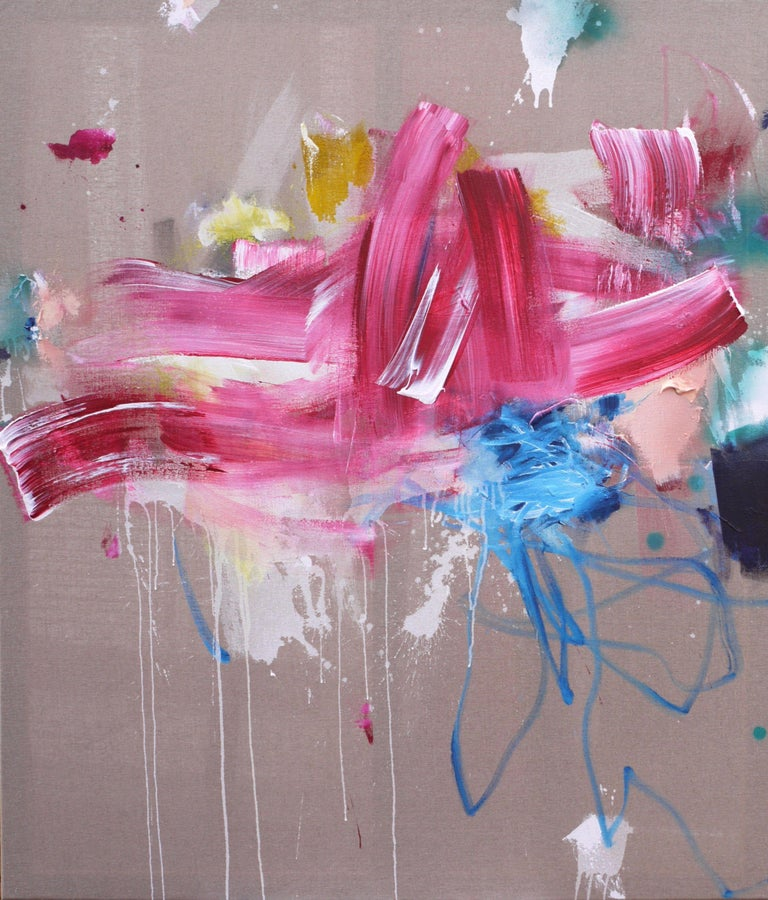 Daniela Schweinsberg Abstract Painting - Definitely Suspicious II, Painting, Acrylic on Other