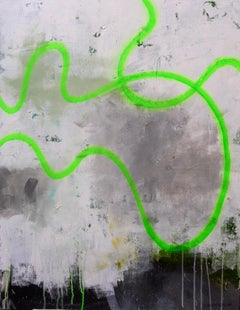 Drift Line (green), Painting, Acrylic on Canvas
