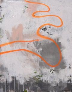 Drift Line (orange), Painting, Acrylic on Canvas