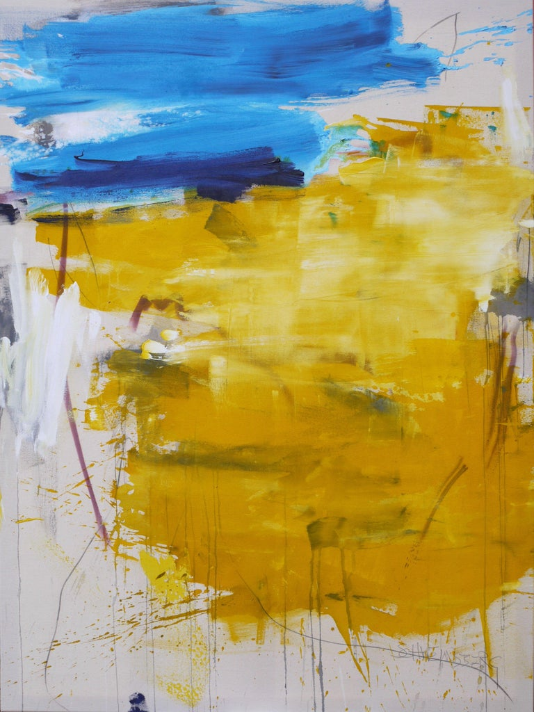 Daniela Schweinsberg Abstract Painting - Finistere I, Painting, Acrylic on Canvas