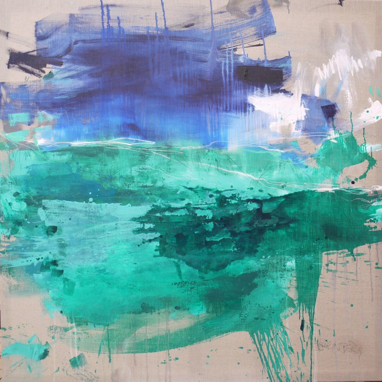 Daniela Schweinsberg Abstract Painting - Finistere III, Painting, Acrylic on Canvas