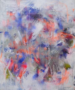 Interstellar Midnight (Manhattan Midnight), Painting, Acrylic on Canvas
