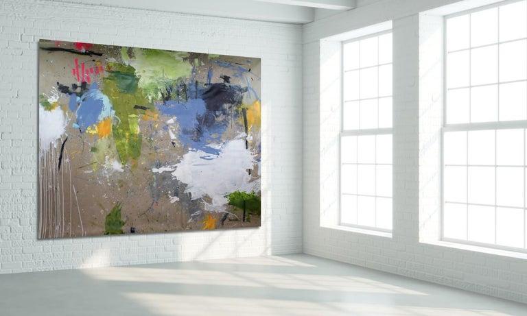 Interstellar Voyage II (Abstract Expressionism painting) - Abstract Expressionist Painting by Daniela Schweinsberg