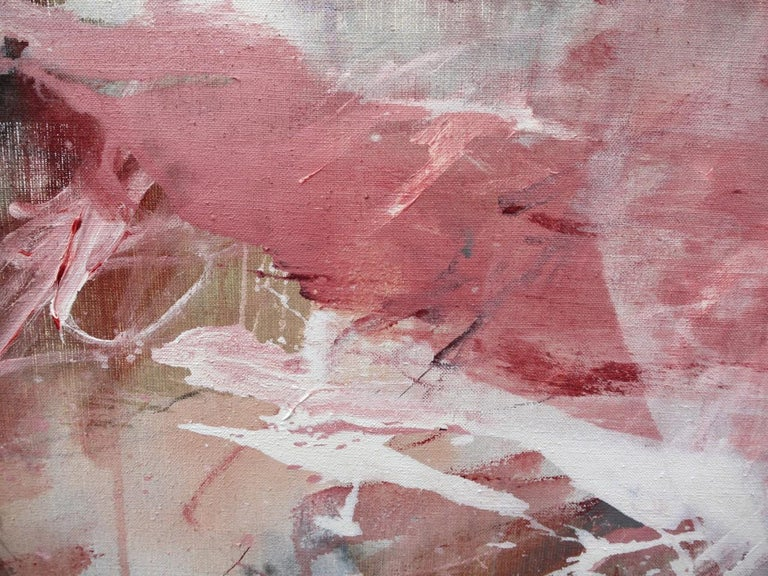 Pink Noise (Abstract Expressionism painting) For Sale 7