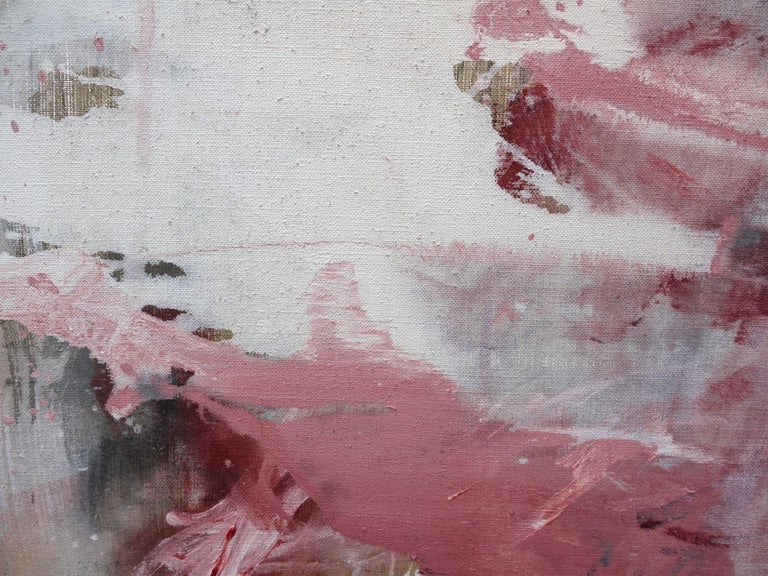 Pink Noise (Abstract Expressionism painting) For Sale 8