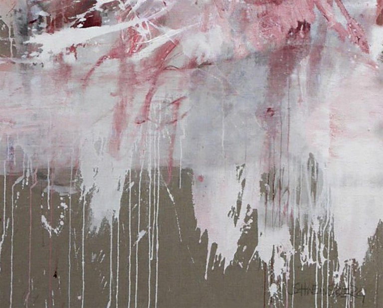 Pink Noise (Abstract Expressionism painting) - Painting by Daniela Schweinsberg