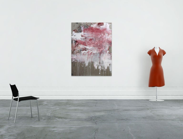Acrylic/mixed media on linen - Unframed.  This work is exclusive to IdeelArt.  Daniela Schweinsberg is a German abstract artist whose lyrical paintings derive their raucous power from a mix of raw emotion, vibrant color, and layers of energetic