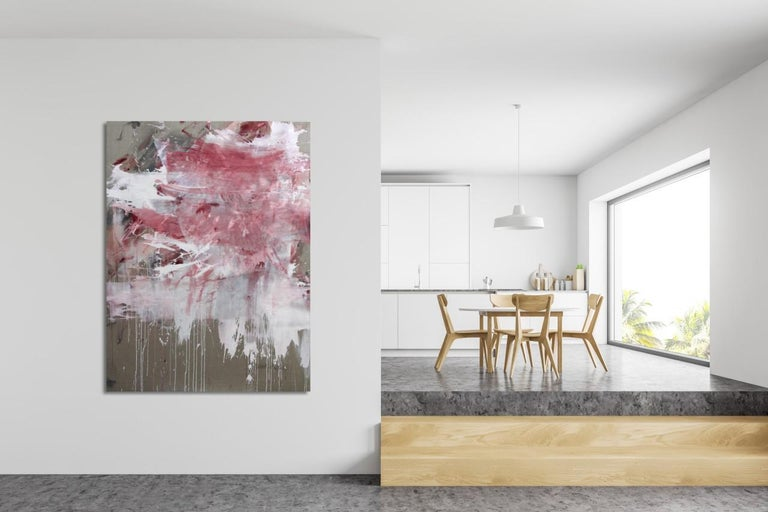 Pink Noise (Abstract Expressionism painting) For Sale 1