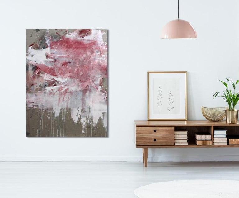 Pink Noise (Abstract Expressionism painting) For Sale 2