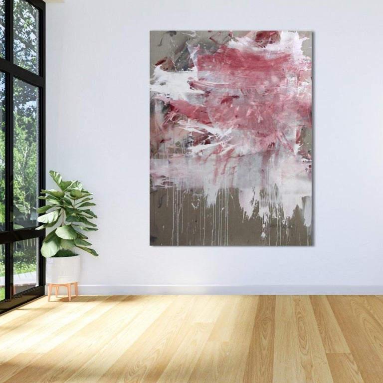 Pink Noise (Abstract Expressionism painting) For Sale 3