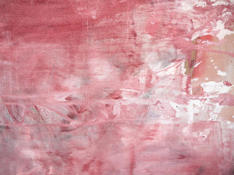 Pink Noise (Abstract Expressionism painting) For Sale 5