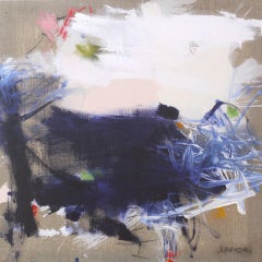Wild at Heart by Daniela Schweinsberg - Blue, Beige Contemporary Modern Abstract
