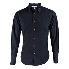 Daniele Alessandrini Preowned Mens Embroidered Party Shirt