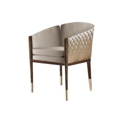 Danielle Chair with Gold Plated Brass