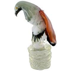 Danilo Zanella for Murano, Large Sculpture in Mouth-Blown Art Glass, Eagle