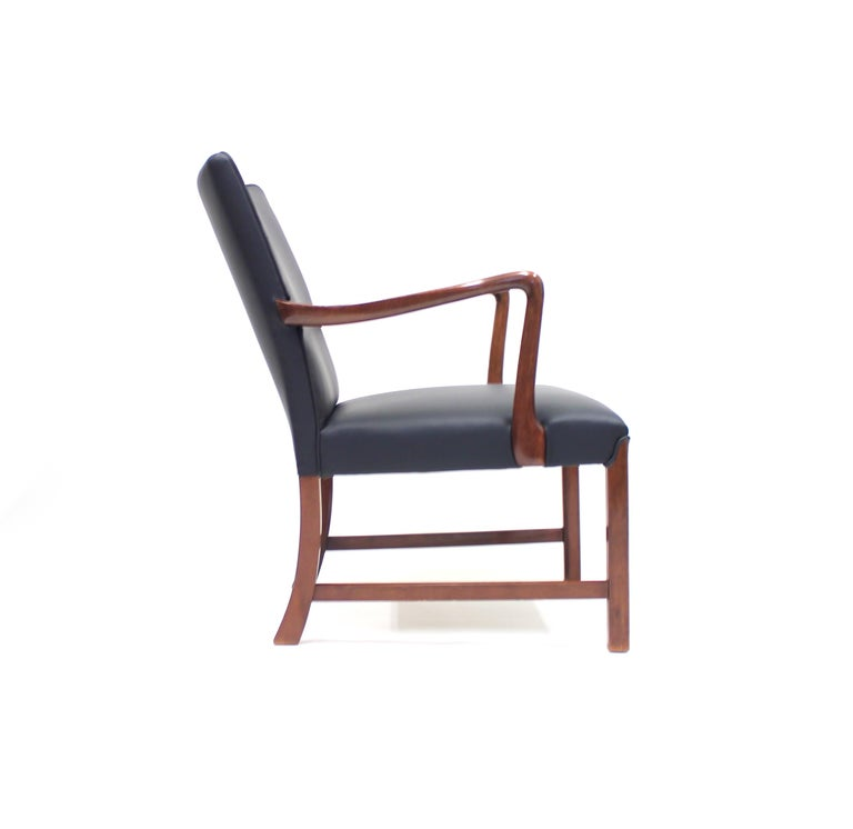 Danish 1756 Easy Chair by Ole Wanscher for Fritz Hansen, 1940s For Sale 1