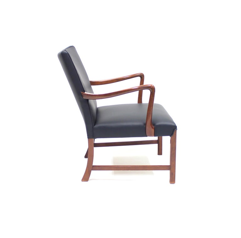 Danish 1756 Easy Chair by Ole Wanscher for Fritz Hansen, 1940s For Sale 2