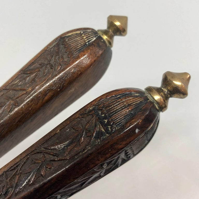 Danish 18th Century Brass And Wood Nutcracker For Sale 6