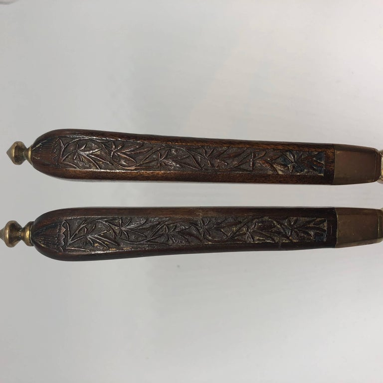 Danish 18th Century Brass And Wood Nutcracker For Sale 7
