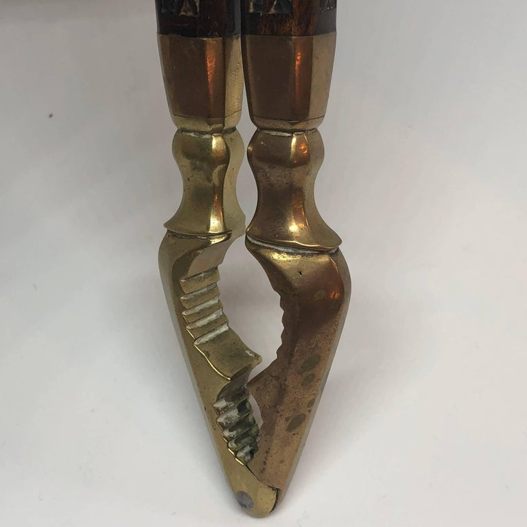 Danish 18th Century Brass And Wood Nutcracker For Sale 8