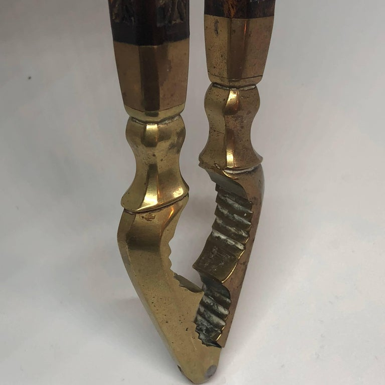 Danish 18th Century Brass And Wood Nutcracker For Sale 9