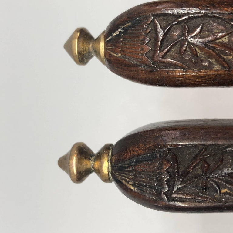 Danish 18th Century Brass And Wood Nutcracker For Sale 10