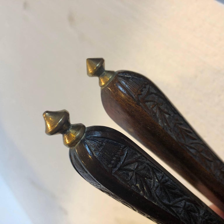 Danish 18th Century Brass And Wood Nutcracker For Sale 11