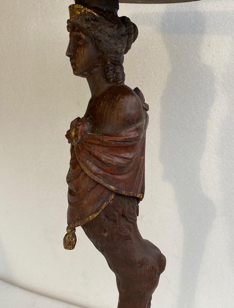 Danish 18th Century Figure Head Gueridon Pedestal Table For Sale 7
