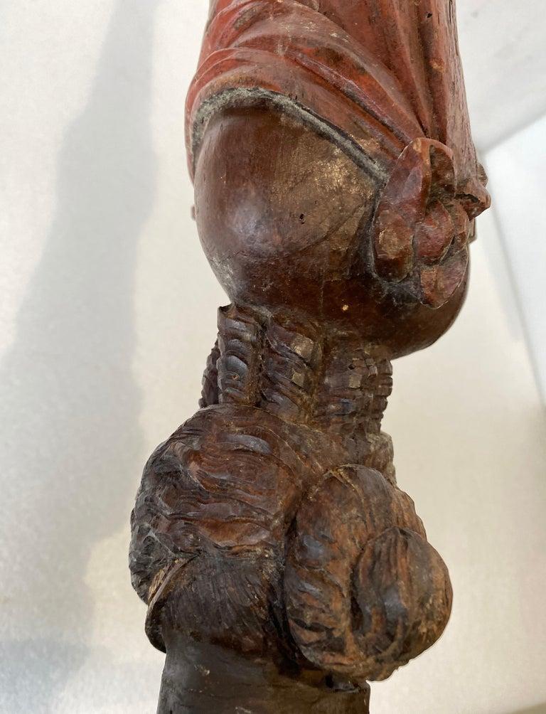 Danish 18th Century Figure Head Gueridon Pedestal Table For Sale 8
