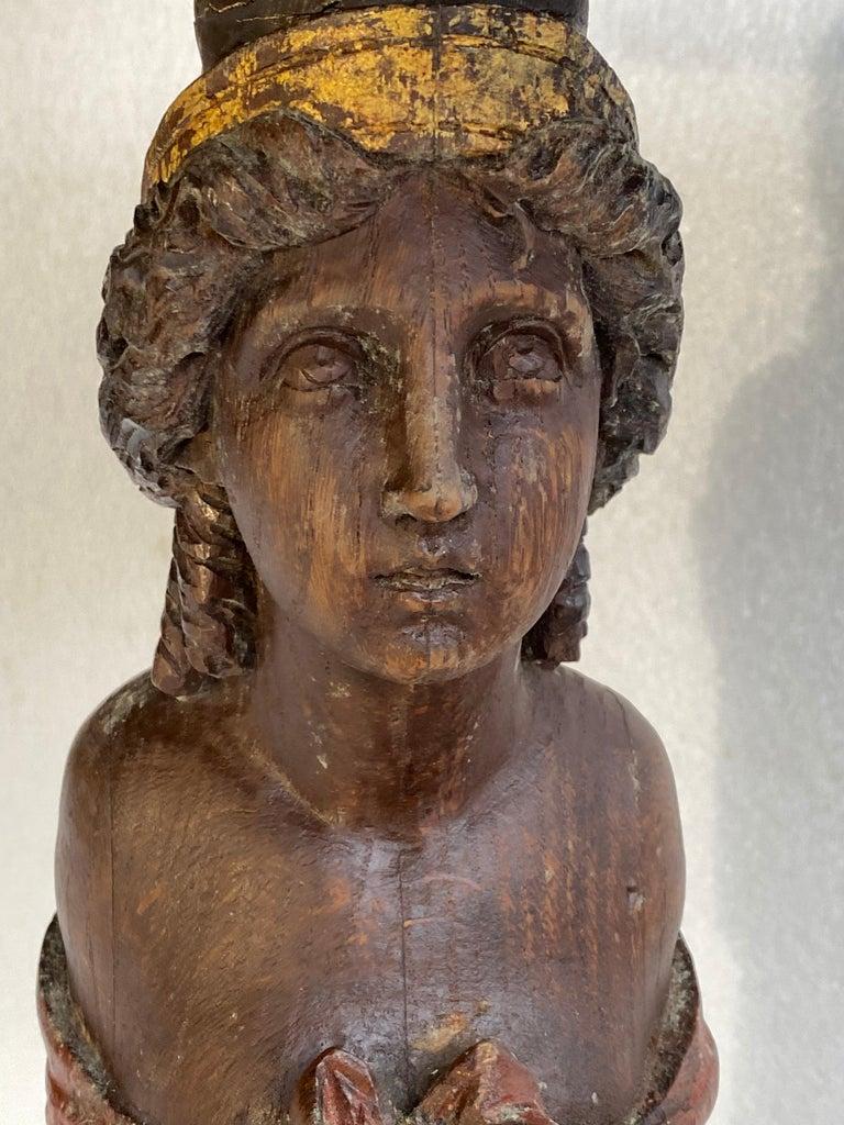 Danish 18th Century Figure Head Gueridon Pedestal Table For Sale 9