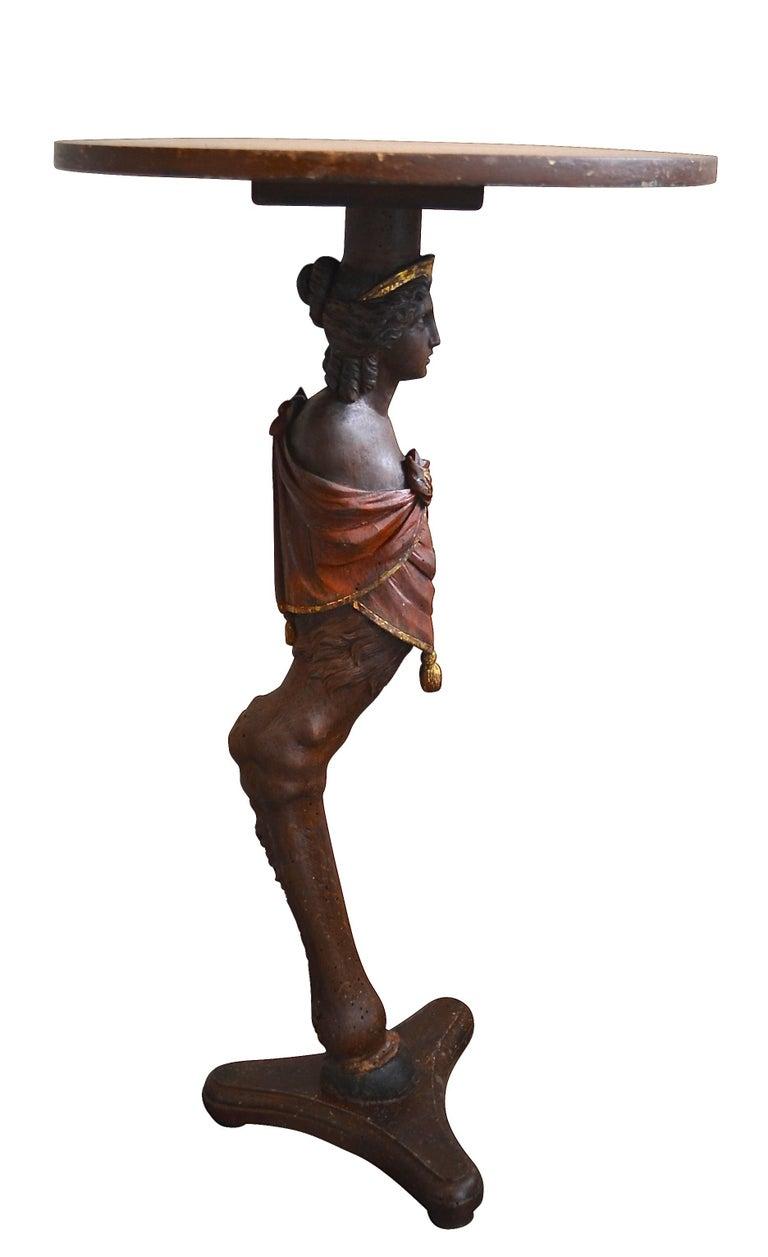 Danish 18th Century Figure Head Gueridon Pedestal Table For Sale 1