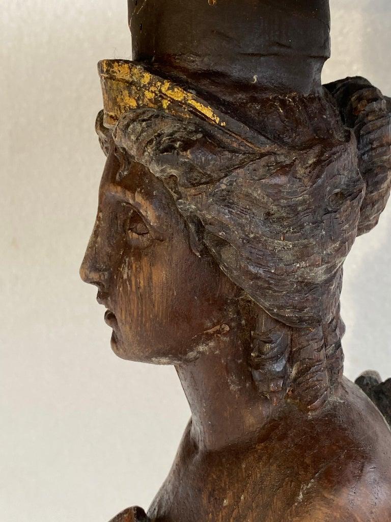 Danish 18th Century Figure Head Gueridon Pedestal Table For Sale 2