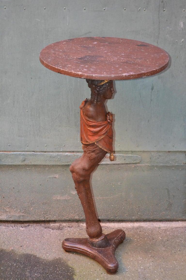 Danish 18th Century Figure Head Gueridon Pedestal Table For Sale 3