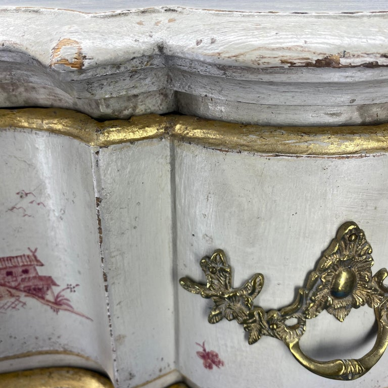 Danish 18th Century Painted Chest of Drawers With Chinoiserie Decor For Sale 6
