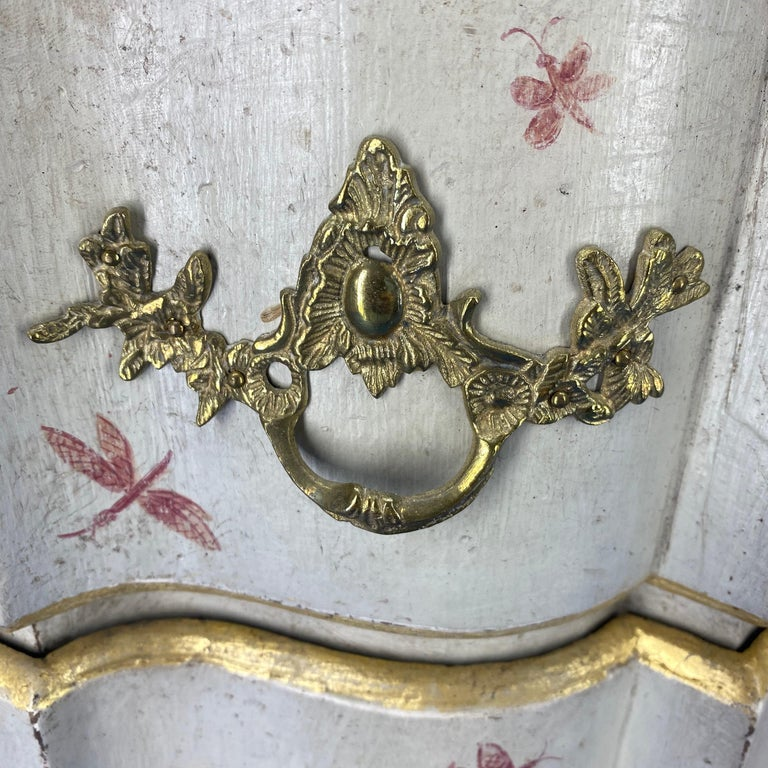 Danish 18th Century Painted Chest of Drawers With Chinoiserie Decor For Sale 2