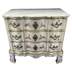 Danish 18th Century Painted Chest of Drawers With Chinoiserie Decor